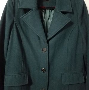 EUC Merona forest green wool blend peacoat, XL